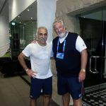 Monsour Bahrami with his friend of over 30 years