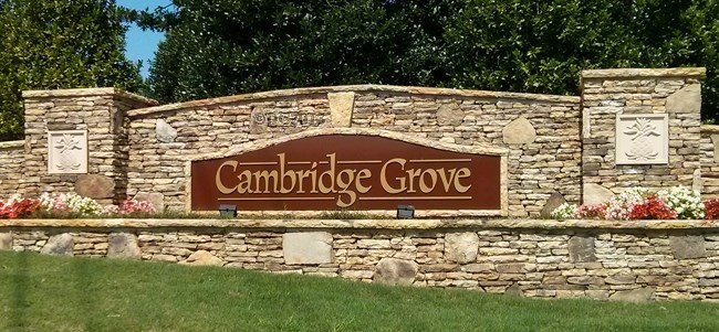 Cambridge Grove Entrance