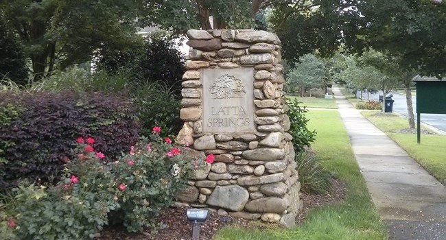 Latta Springs Entrance