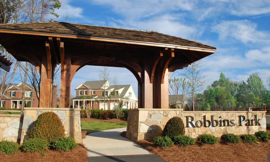 Robbins Park Community Entrance