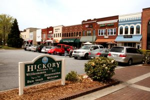 Hickory Town Welcome Sign